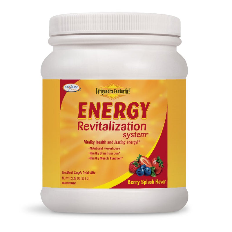 Enzymatic Fatigued to Fantastic Energy Revitalization System Berry Splash Flavor 30 days