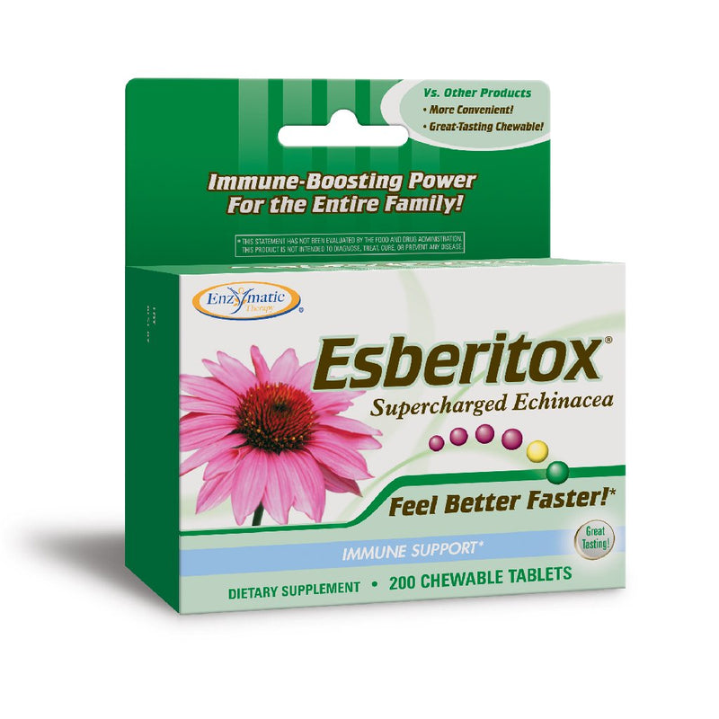 Enzymatic Esberitox Supercharged Echinacea 200 Chew Tabs