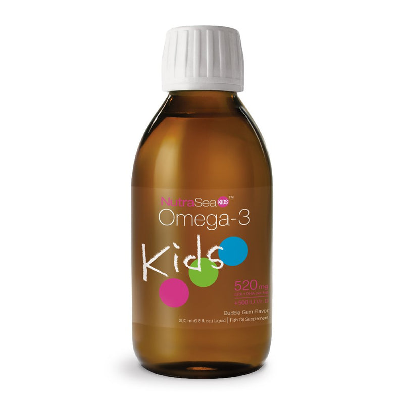 NutraSea Kids, Omega-3, Bubble Gum Flavor, 6.8 fl oz (200ml)