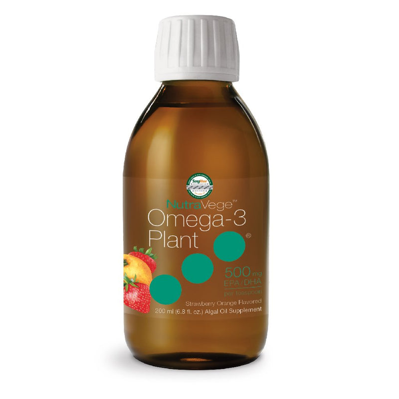NutraVege Omega-3 Plant 500 mg Strawberry Orange 200 ml