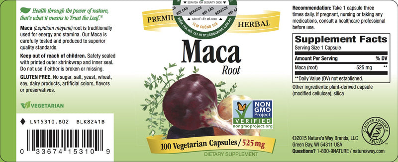 Nature's Way Maca Root 100 Caps