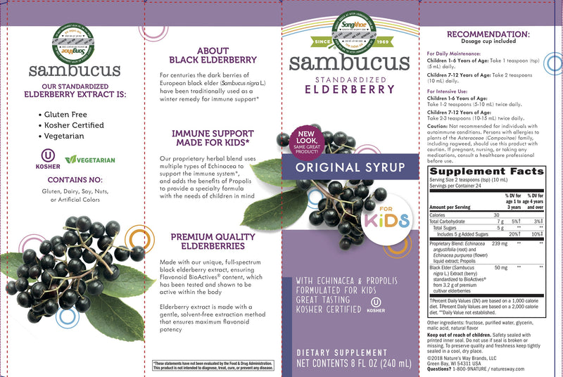 Nature's Way Sambucus for Kids Syrup  8 oz
