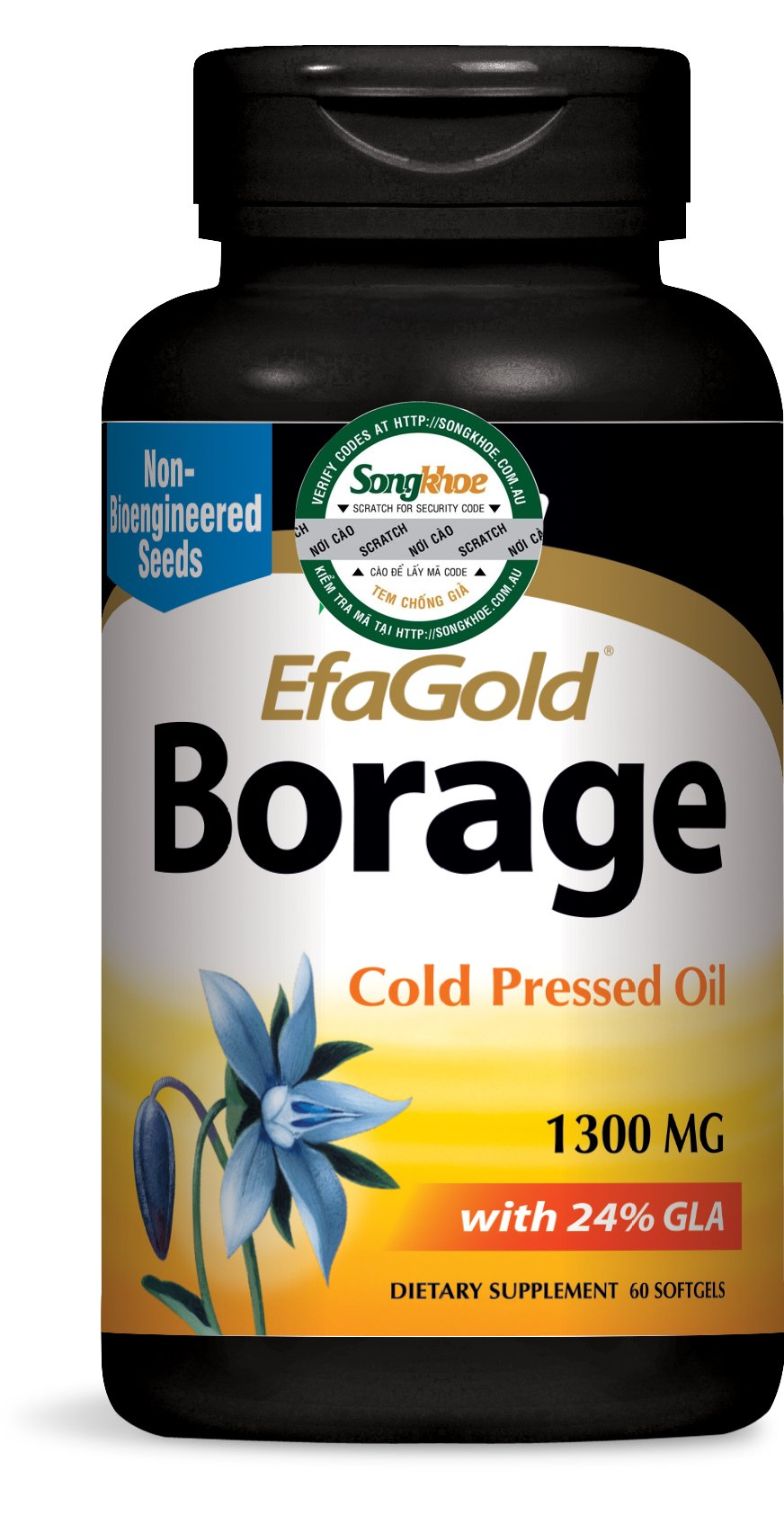 Nature's Way Borage Oil 1,300 mg 60 softgels