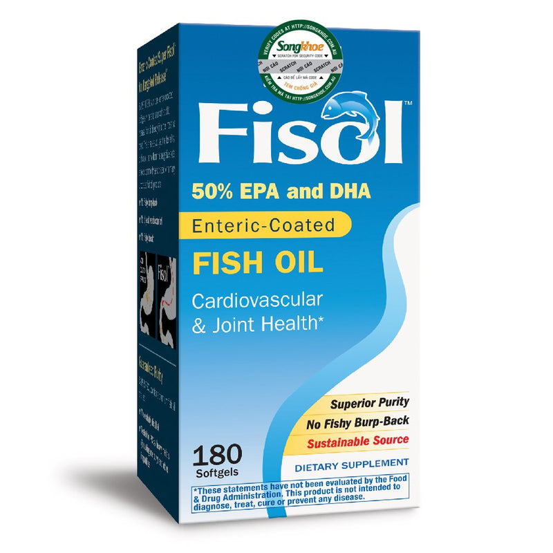 Nature's Way Super Fisol Fish Oil 180 Softgels