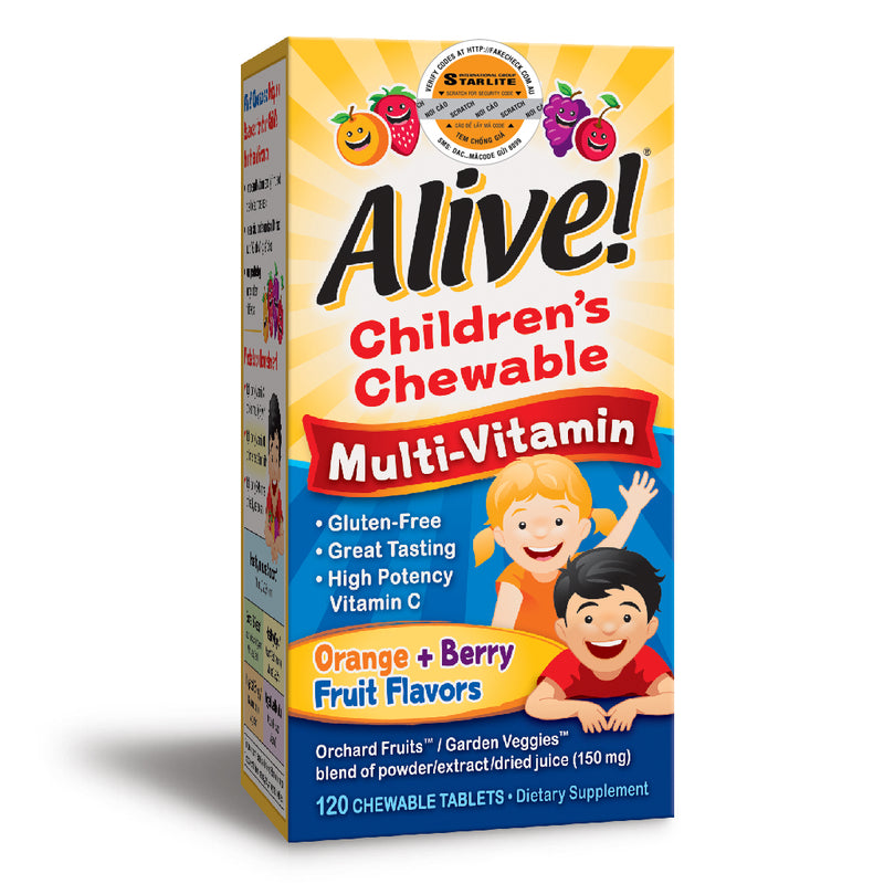 Alive Children's Chewable Multi-Vitamin Orange & Berry 120 tabs