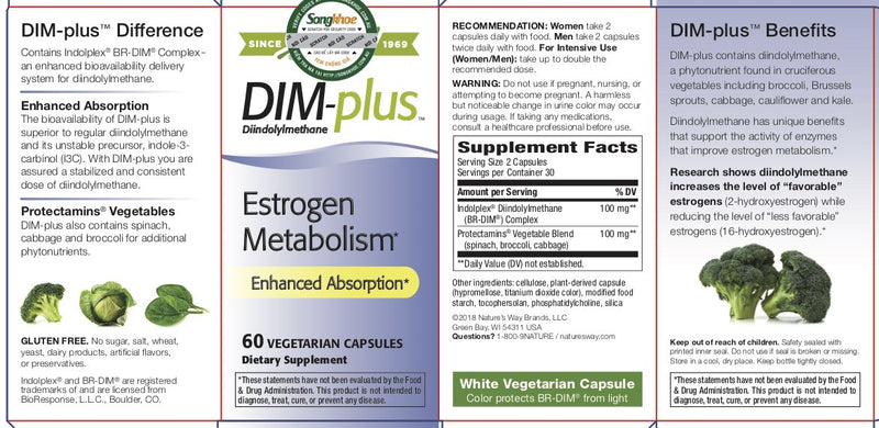 Nature's Way DIM-Plus 60 vcaps