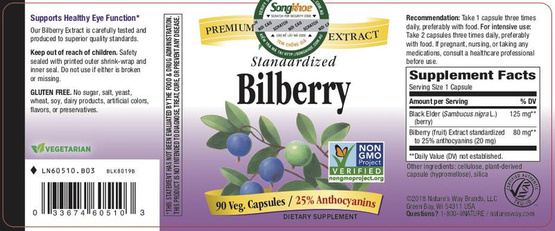 Nature's Way Bilberry 90 vcaps