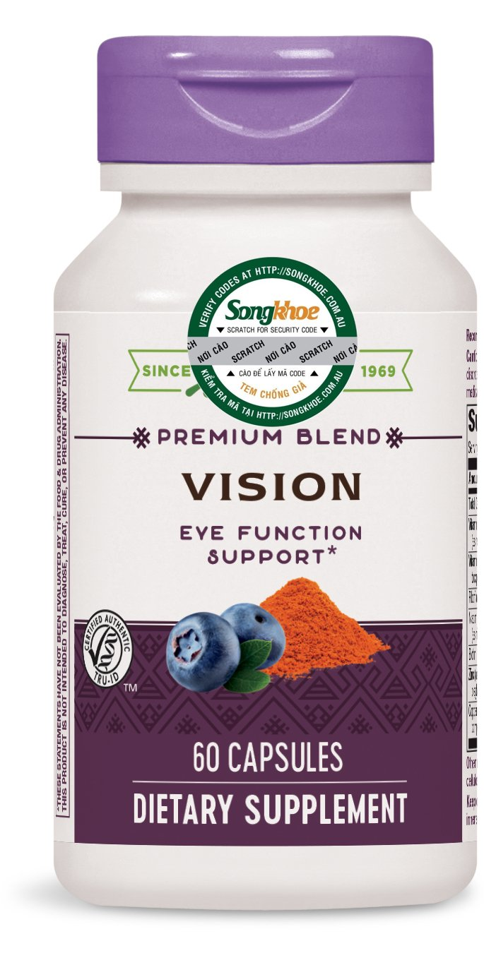 Nature's Way Vision with Lutein & Bilberry 60 caps