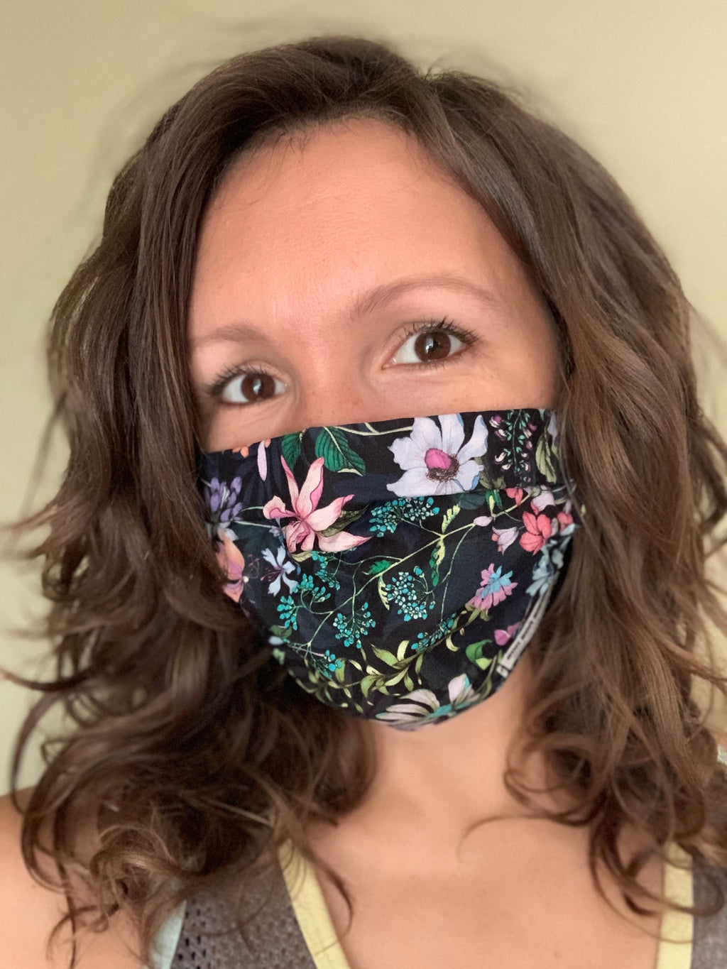 Adjustable Sizing Face Mask (Botanical Sweet Dreams: Le Dix-Sept x Bon Bon Bandeaux Collab)
