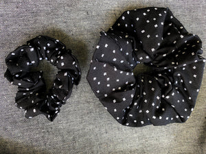 Sea Salt + Pepper Scrunchie Set