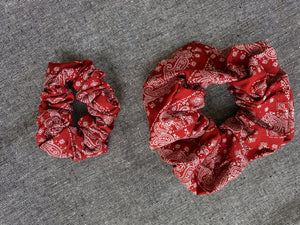 Candy Apple Red Scrunchie Set