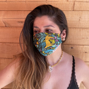 Adjustable Size Face Mask (Happy Rainforest)