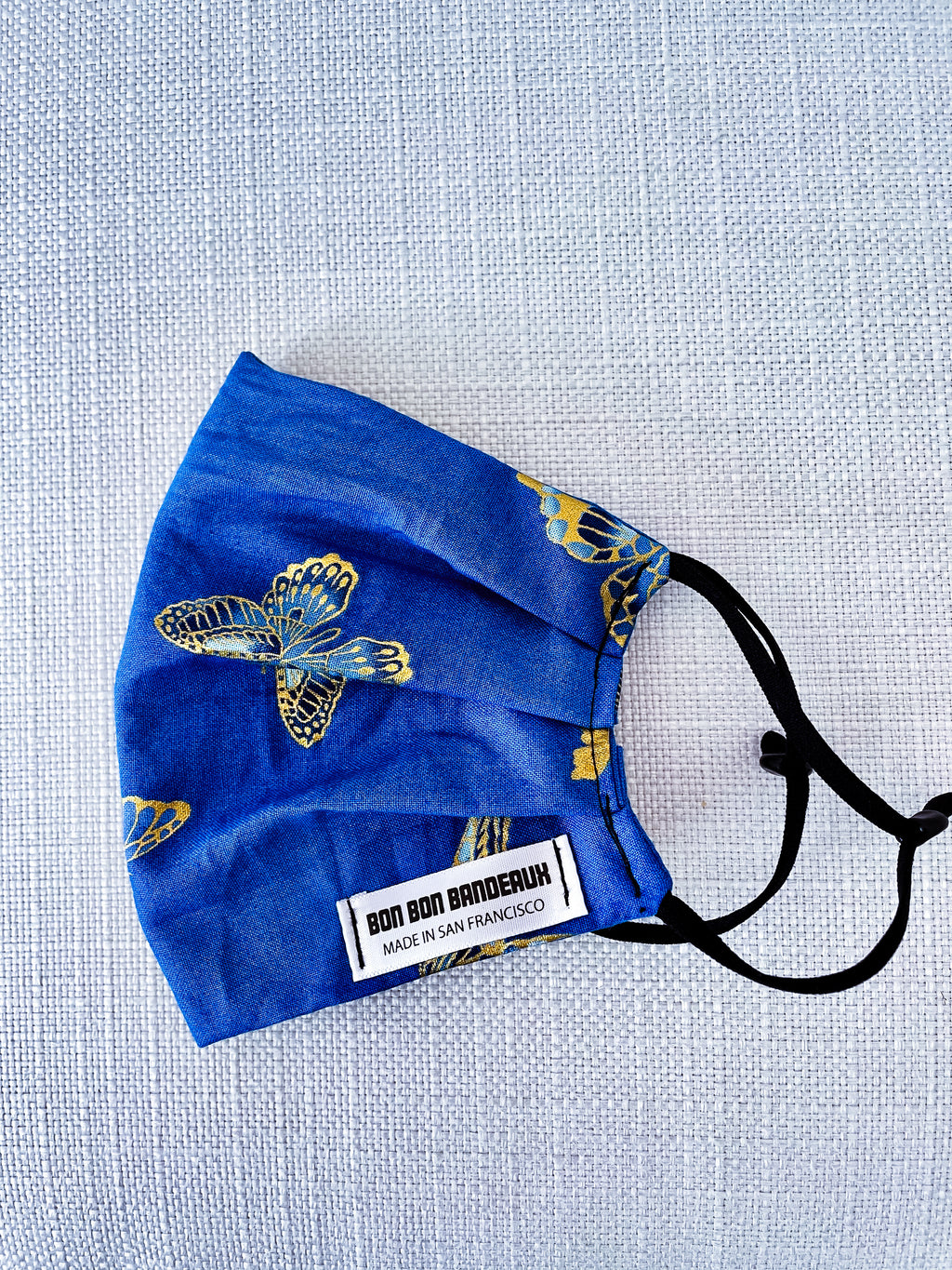 Adjustable Size Face Mask (Blue Mariposa)