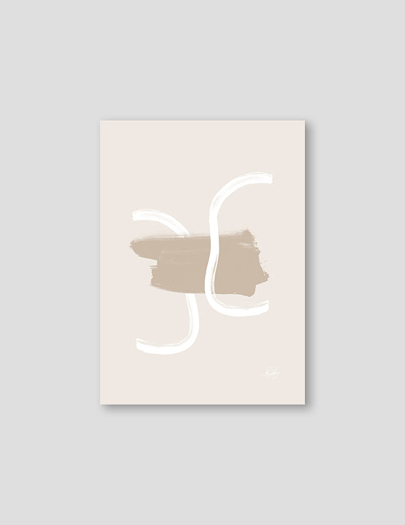 Beige and White Abstract NO2