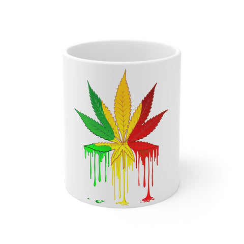 Rasta Pot Leaf- Mug