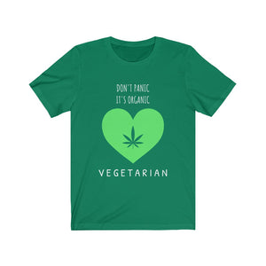 Don't Panic It's Organic, Vegetarian- Unisex Jersey Short Sleeve Tee