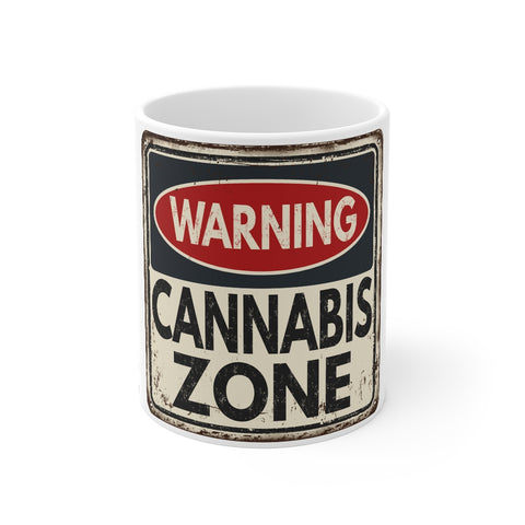Warning Cannabis Zone- Mug