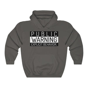 Public Warning- Unisex Heavy Blend™ Hooded Sweatshirt