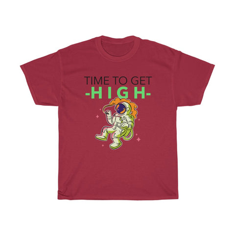 Time To Get High- Unisex Heavy Cotton Tee