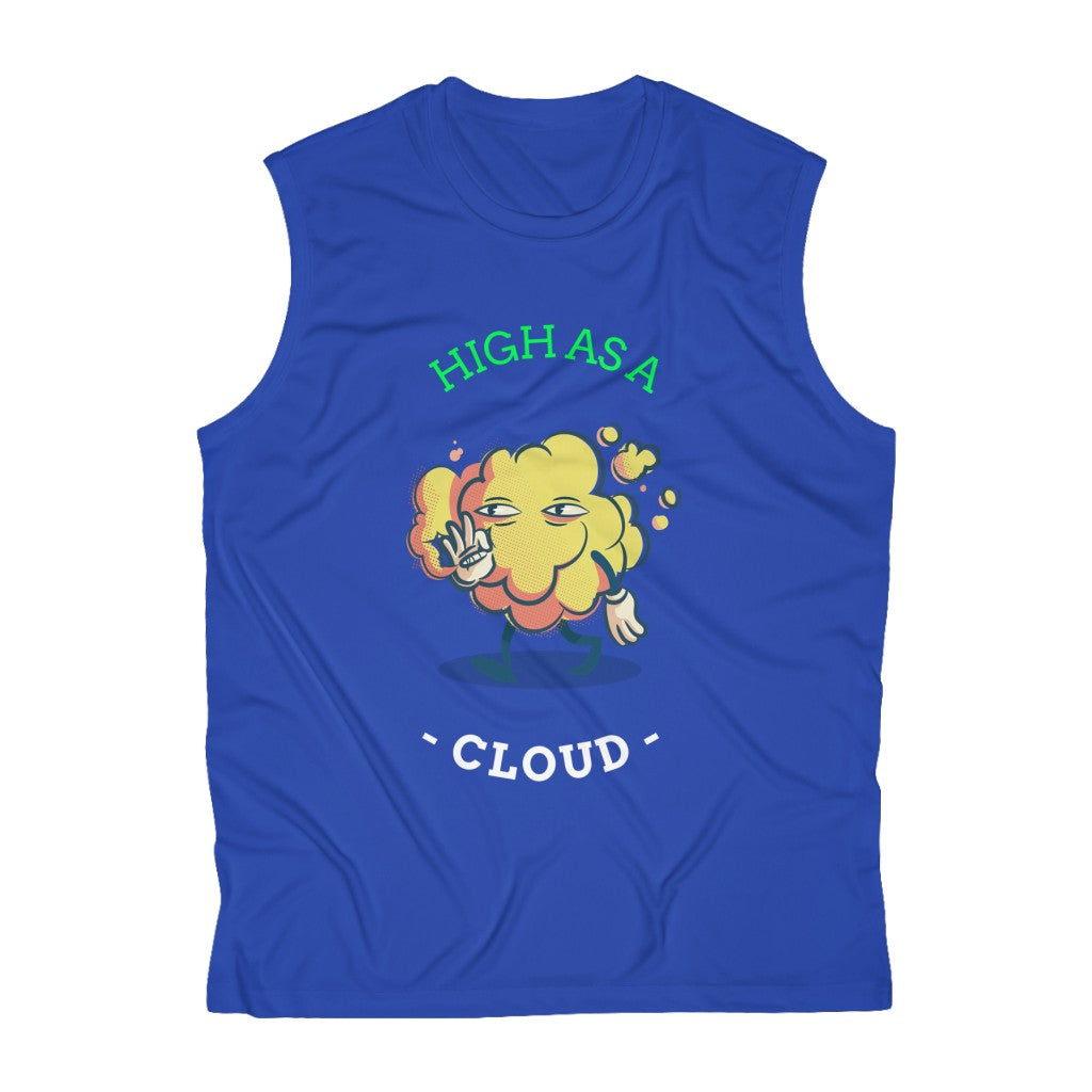 High As A Cloud- Men's Sleeveless Performance Tee