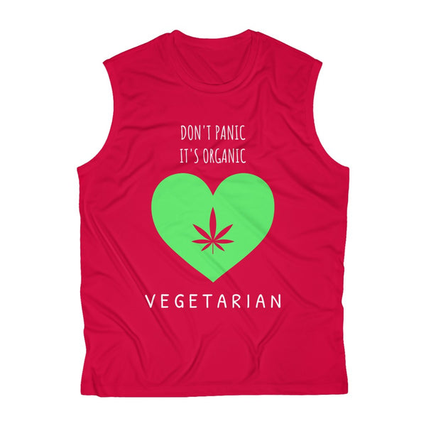 Don't Panic It's Organic, Vegetarian- Men's Sleeveless Performance Tee