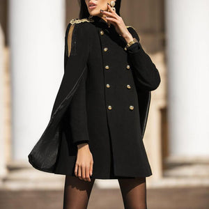 Fringed English cloak coat coat