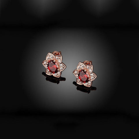 Fashion Diamonds Flower Earrings