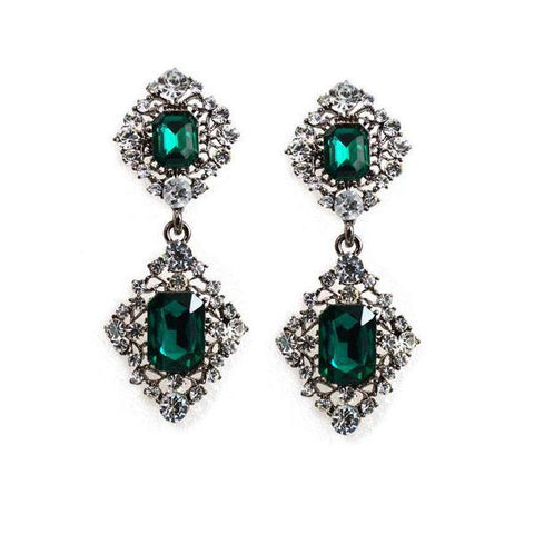 Graceful Faux Crystal Earrings