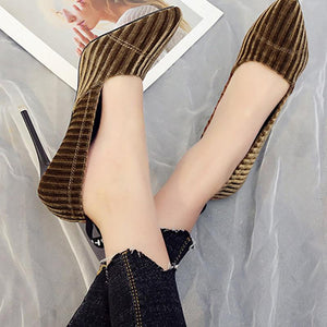 Elegant Suede Pointed Toe OL Shoes