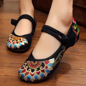 SOCOFY Plain  Invisible  Low Heeled  Ankle Strap  Round Toe  Casual Flat & Loafers