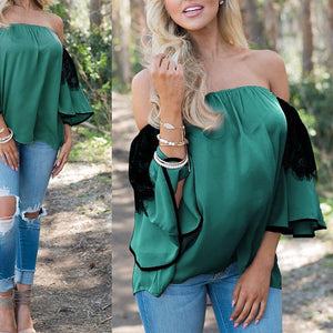 Sexy Off Shoulder Lace Top