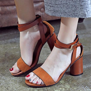 Open Toe Women's Sandals With High Heels