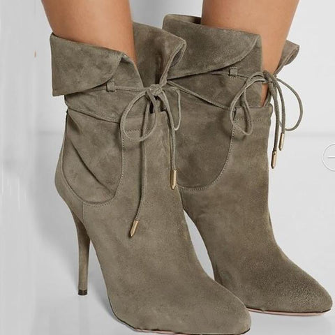 Fashion Pointed  Stiletto Heel Boots