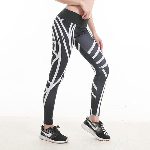 Digital Printing High Waist Sports Yoga Pants