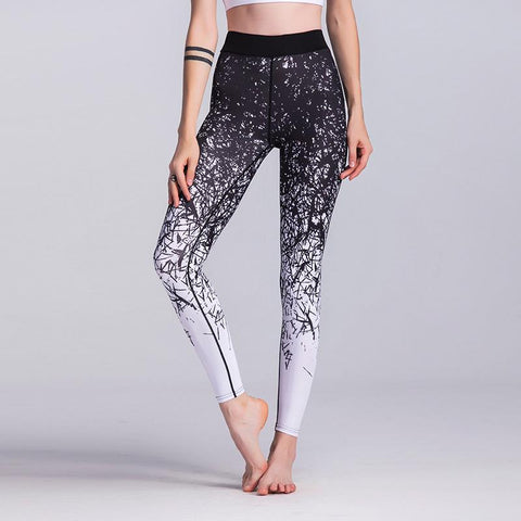Printing Motion Leggings Elastic Force Yoga Pants