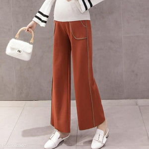 Maternity Comfy Solid Color Wide Leg Pants