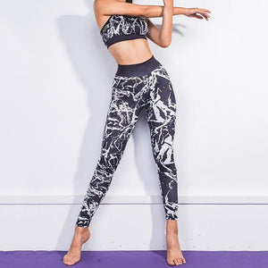 Fitness Graffiti 3D Printed Yoga Suit For Women