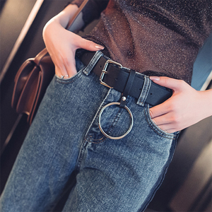 Chic Hanging Ring Pin Buckle Belt