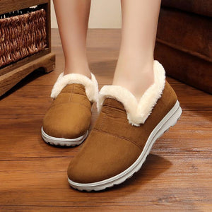 National Style   Plush Home Warm Cotton Shoes Snowshoes
