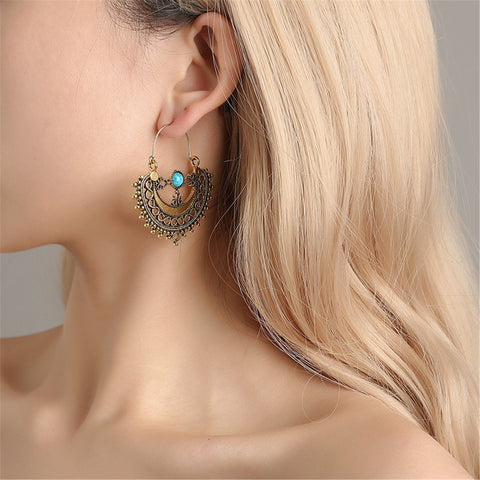 Fashion Retro Ethnic Hollowed-Out Earrings