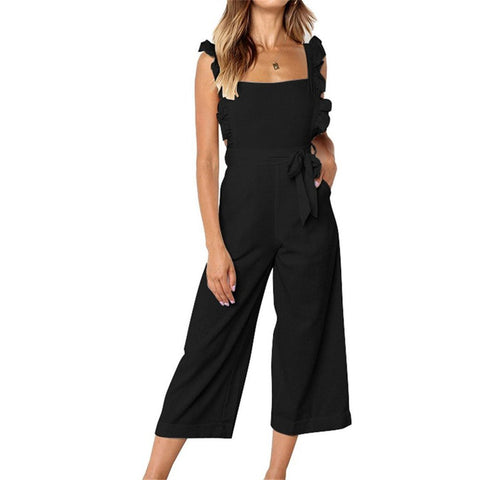 Strapless Casual Loose Sleeveless Jumpsuit