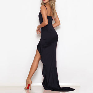 Sling Sleeveless Fishtail Banquet Evening Dress