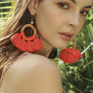 New Braided Tassel Earrings Ladies