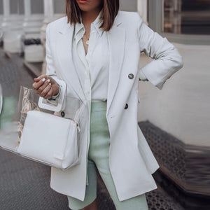 Casual A Lapel Long Sleeve Solid Color Suit
