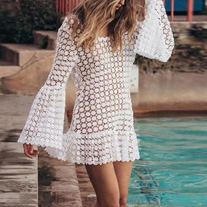 Vacation Lace Beach Bikini Pullover Dress