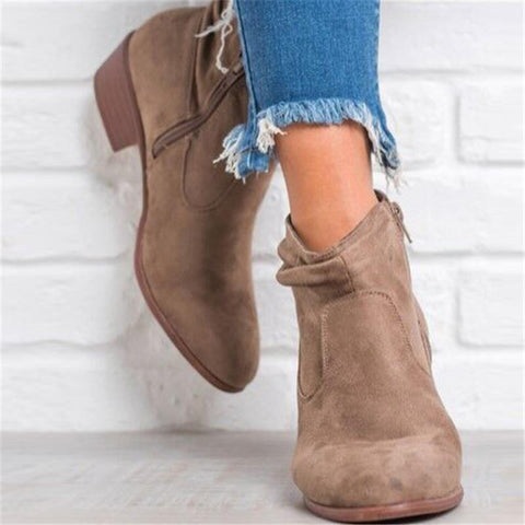 Autumn and winter new versatile and comfortable mid-heeled with short tube women's boots tide 40-43Women's Boots