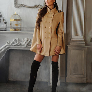 Double-breasted cloak coat coat