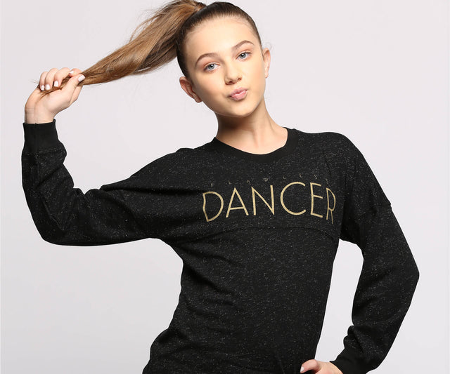 Flawless Glitter Long Sleeve Top