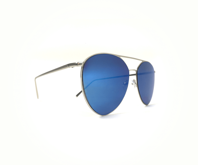 Blue Mirror Flat Lens Aviator
