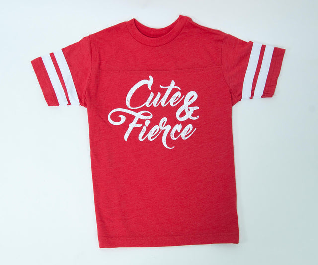 Cute and Fierce jersey tee